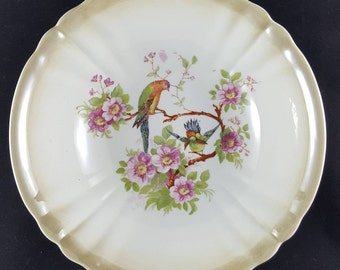 "Large ""Three Crowns China"" Serving Bowl with Birds of Paradise"