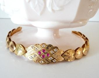 18k Gold Link Bracelet Fine Gold Jewelry Link Style Vintage from TreasuresOfGrace