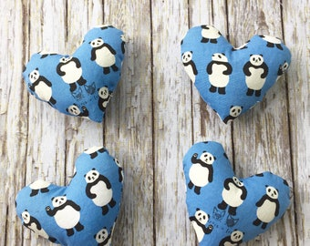 Panda Bear Catnip Heart Toy for Cats and Kittens