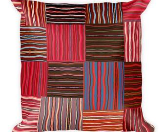 Basket Weave Pattern Square Pillow