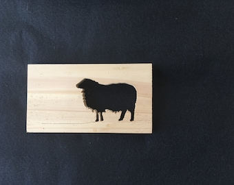 Sheep Silhouette made from Western Red Cedar