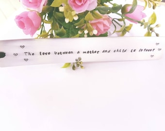 Metal Bookmark. Custom made bookmark. Gift for mum