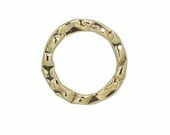 Gold Filled Hammered Round Link 11 mm  5pcs, 10pcs, 25pcs Item# (HL202411)