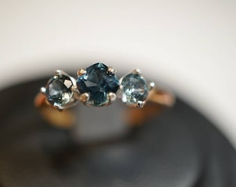 Brilliant Rose Gold Montana Sapphire ring
