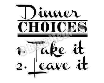 Dinner Choices SVG dxf Studio, Kitchen SVG dxf Studio, Cooking SVG dxf Studio, cutting board svg dxf studio