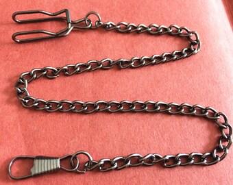 1pieces 35cm Gunmetal black  pocket watch chain