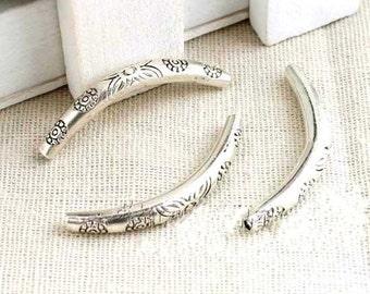 10pc Antique silver  arc tube Charm Pendants the arc tube necklaces  bracelet  32mm