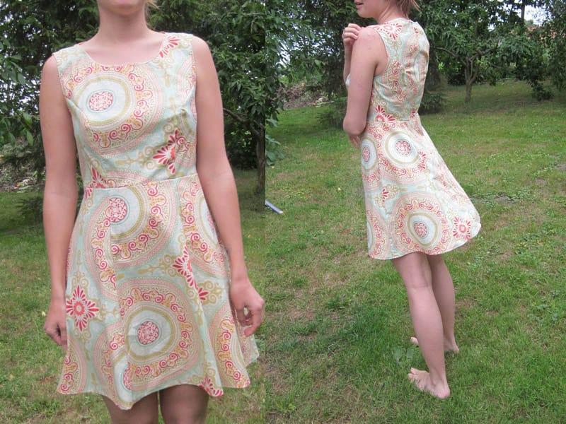 ebook Sommerkleid Gr.38-46 kurzes schlichtes Kleid ohne Ärmel