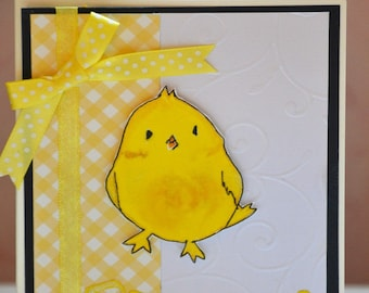 Easter chick child card
