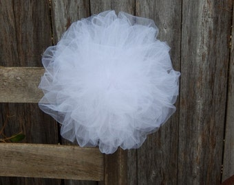 Tulle Pom Pew Bows, Custom Pew Bows, Tulle Wedding Decor, Chair Hangers, Tulle Poms, Quinceanera Decorations, Choose Your Color