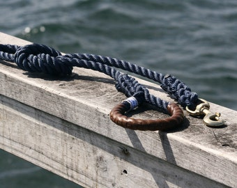 "Nautical Dog Leashes - the Fair Lead ""Classic"" (Navy)"