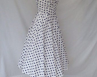 Vintage 1950s Strapless Sundress
