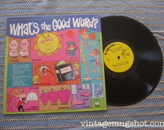 What's The Good Word Vintage Vinyl lp Record Peter Pan Records Synonyms Homonyms
