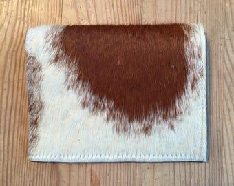Handmade Hair on Hide Brown & White Wallet