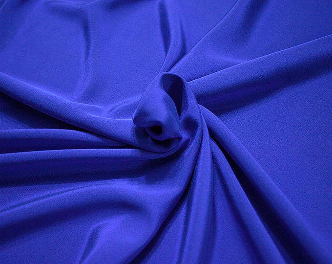 305217-Crepe marocaine Natural Silk 100%, width 130/140 cm, made in Italy, dry cleaning, weight 215 gr