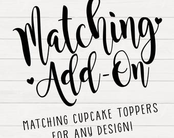 Party Printables Matching Party Add-Ons Printable Party Decor Cupcake Toppers Printable Cupcake Toppers Printable Decor Printable Party