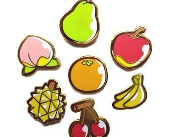 Animal Crossing Fruit Pin Set