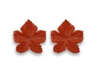 Vintage Plastic Leaf Earrings