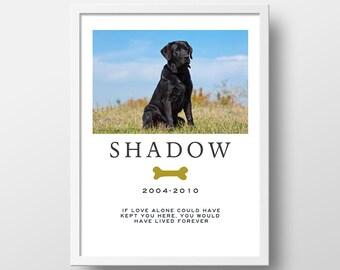 Personalized Photo Gift | Custom Photo Gift | Pet Memorial | Dog Memorial | Rainbow Bridge | Gift for Pets | Photo Keepsake | Dog Photo Gift