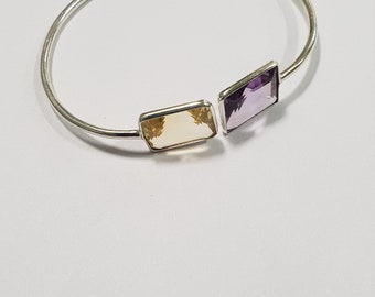 925 sterling silver multi stone bangle handmade bangle cuff bracelet with 7 inches