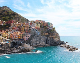 Colorful Cinque Terre, Europe, Mountains, Mediterranean Sea, Coastal, Historic, Village, Manarola, Italy
