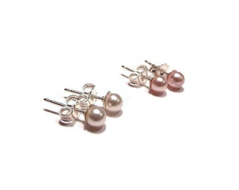 Baby Earrings, Girls Earrings, Pearl Earrings, Stud Earrings, Baby Jewelry, Girls Jewelry, Kids Jewelry,  (B8)