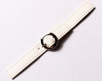 13 belt buckles 135mm, polyurethane, white broken (8477)