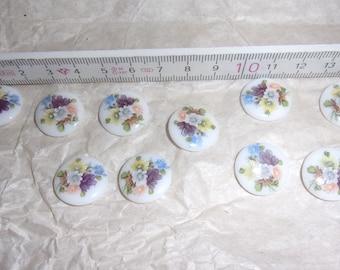 10-inch cabochon gemstones floral flower flowers retro vintage cabochons ornate Baroque