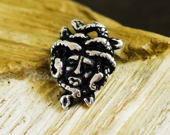 Antique Silver Medusa Charm 18x24mm, Greek Casting Medusa Head Pendant Jewelry - 2 pcs