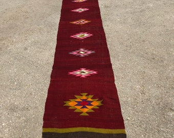 "146"" x 26"" runner rug, runner , kilim runner, big runner, turkish runner rug , turkish kilim"