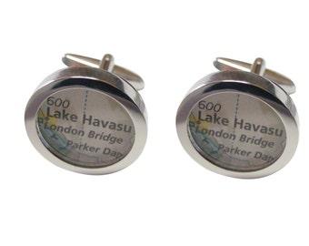 Lake Havasu Map Cufflinks