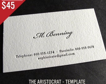 Arrington grawunder on etsy 100 custom letterpress business cards the aristocrat colourmoves