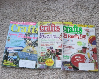 Lot of 3 - Crafts Magazines - Vintage