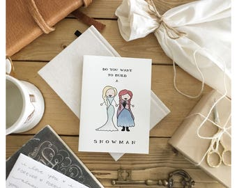 Frozen // frozen card • Anna and Elsa • Disney card • Disney • sister card • card for sister • friend card • Christmas card