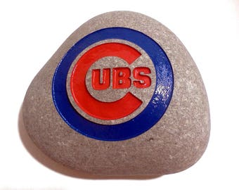Chicago Cubs Engraved Stone