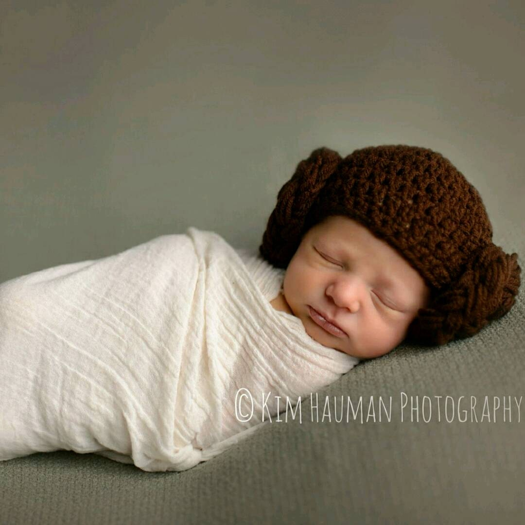 Baby Princess Leia Star Wars Crochet Hat