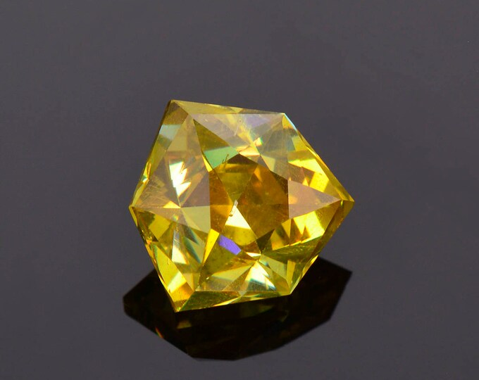 Excellent Yellow Sphalerite Gemstone from Spain, Precision Faceted, 7.24 cts.