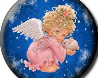 Cabochon resin 25 mm - Christmas Angel craft (652)