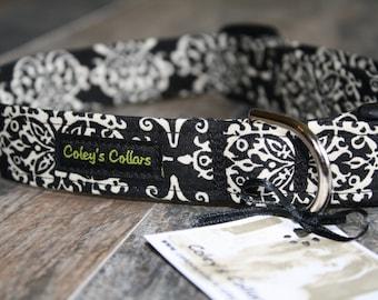 """Dog Collar, Dog Collars, Custom Dog Collar, Wedding Dog Collar, Girl Dog Collar, Boy Dog Collar,  Female Dog Collar, """"Lace Damask"""""""