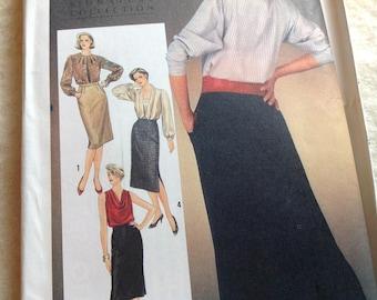 Vintage Simplicity Pattern 6683, Lauren Hutton Pattern, Straight Skirt Pattern, Sizes 10 12 14, Uncut Pattern, Designer Pattern