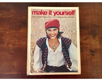 1970s how to craft book knit crochet sew design your own retro clothing