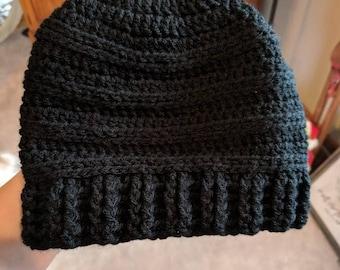Messy Bun Beanie, Ponytail Hat, Crochet Hat, Ponytail Beanie, Bun Hat, Bun Beanie, Beanie