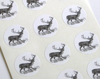Deer Stickers - One Inch Round Seals