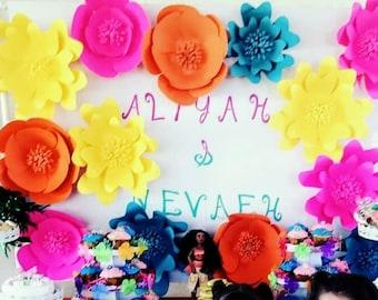 Moana flower backdrop