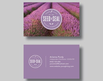 Young living essential oils business card stamp digital young living essential oils business card lavender field digital design colourmoves