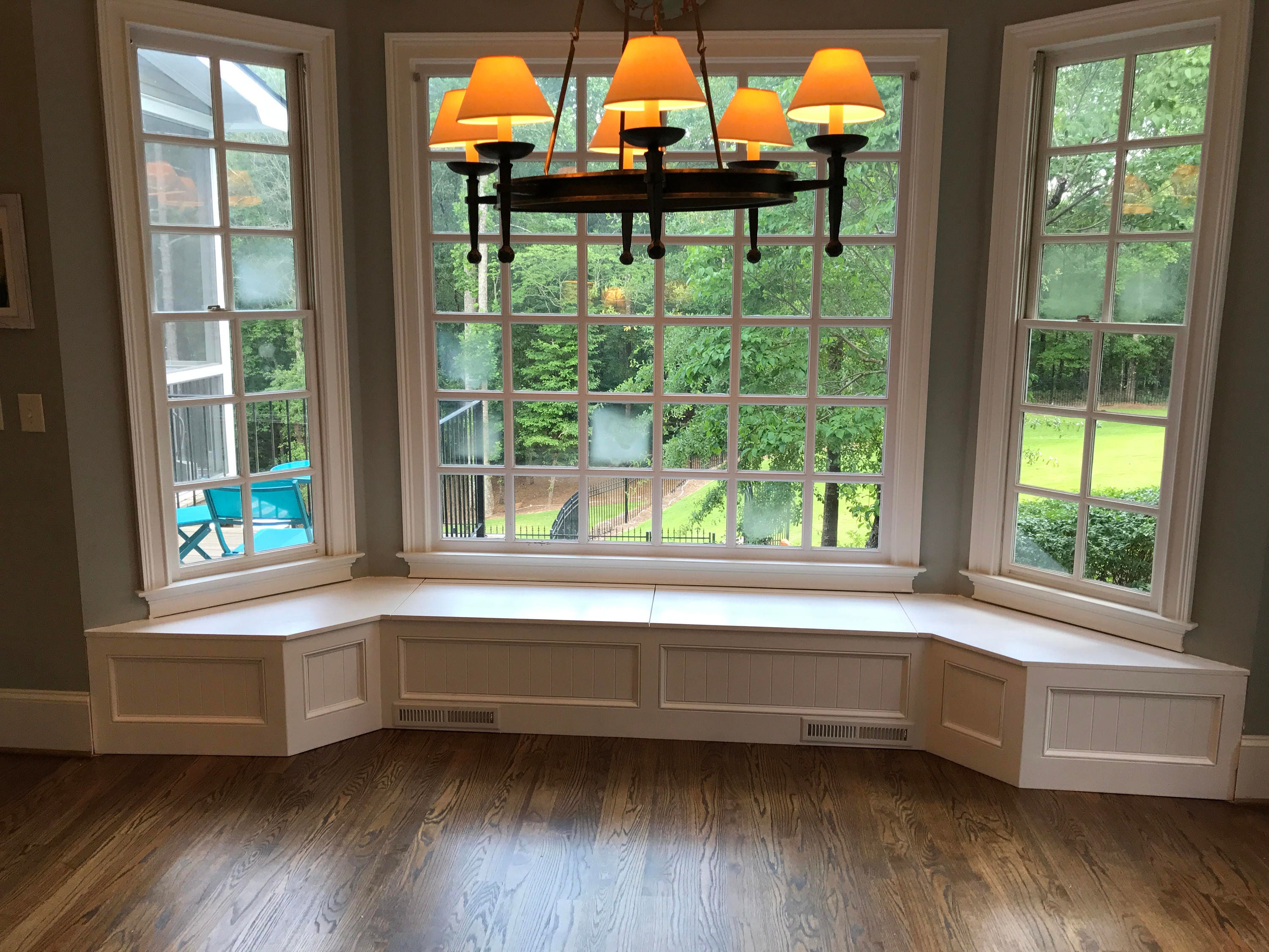Banquette Bench for a Bay Window, kitchen seating, shaped bench ...