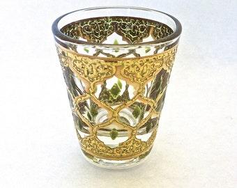 Culver Valencia Gold and Enamel Shot Glass