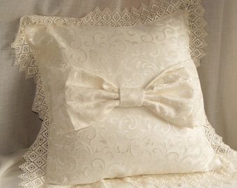 pillow with Ribbon and lace