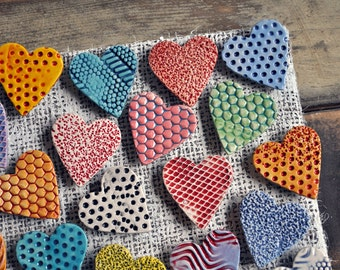 Ceramic Heart Magnets