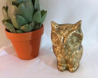 Solid Brass Vintage OWL